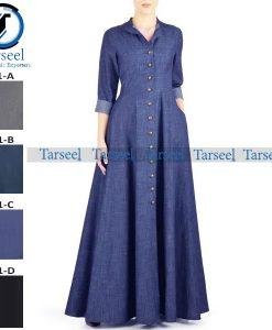 Summer Maxi Style Jilbab Denim Abaya