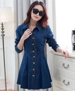 Navy Blue   Winter Denim   Tunic & ladies shirt Top for Women   Tailor Made   Best Party Skirt tops