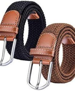 Tarseel Elasticated Braided Canvas Belt  I  Ladies Stretch Belts  I  Stretchable Woven Braid Belt I  Elastic Braided Belt Unisex  I  Elasticated Woven Belt for Jeans Trousers Abaya Kurti And Turkish Coat